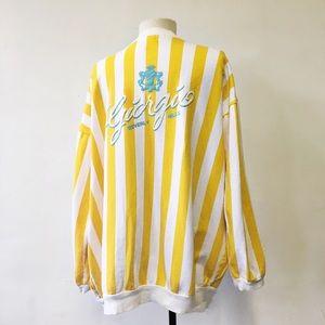 Giorgio Beverly Hills Yellow Striped Cotton Jacket